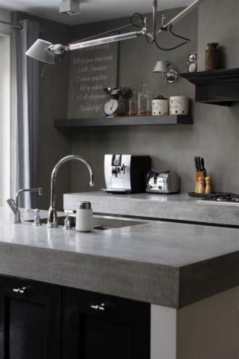 Formidable Plan De Travail Epais #3: plan-de-travail-beton-cuisine-gris.jpg