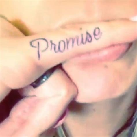promise tattoo on little finger promise tattoo meanings steal her style
