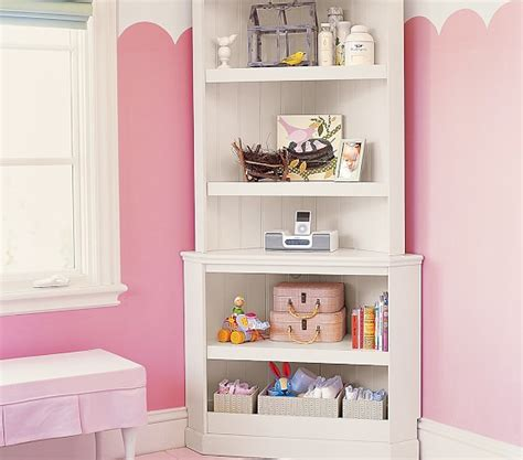 corner bookcase hutch pottery barn
