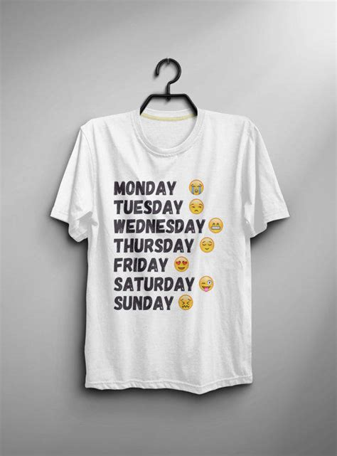 Tshirt Instagram days of the week shirt tshirt instagram from bes10 on etsy