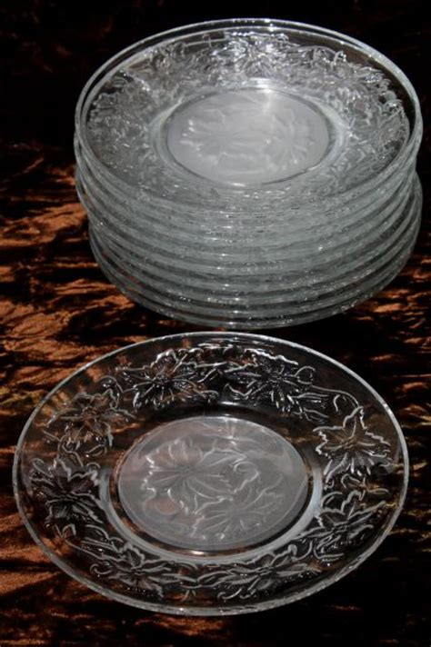 princess house fantasia fantasia princess house glass dishes set of 10 dessert or bread butter plates