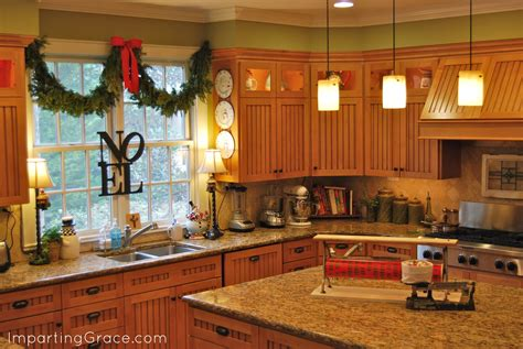 kitchen decorating ideas for countertops imparting grace dollar store christmas decorating