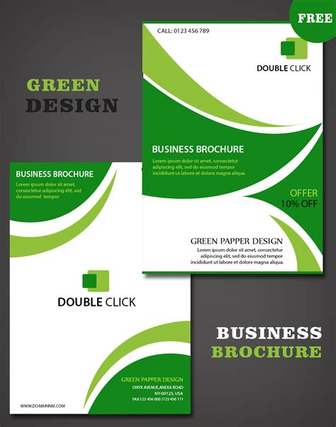 brochure template design free business brochure templates