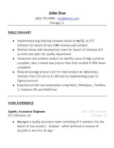 entry level quality assurance resume sles quality assurance resume sle hloom