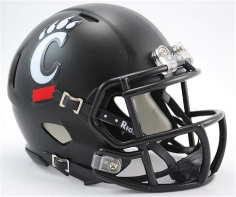 college football helmet design history cincinnati bearcats ncaa mini speed football helmet