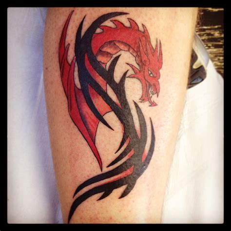 dragon tattoo with tribal i tweaked this design to make