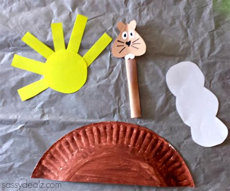 groundhog crafts for groundhog day craft for paper plate crafty morning