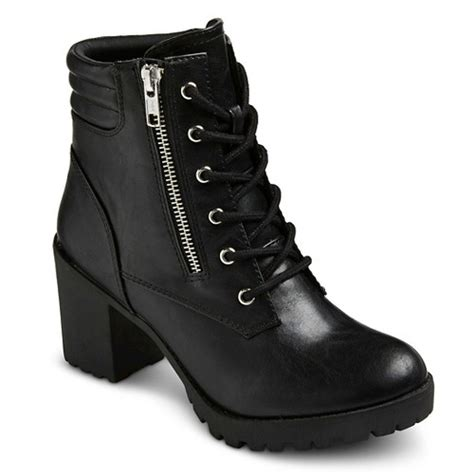 s mossimo supply co easton chunky heel combat boots
