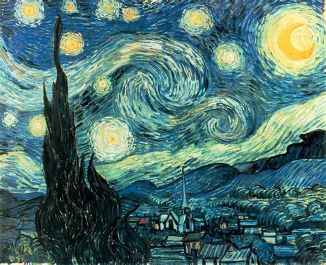 starry night quot high moon quot what a night for van gogh lori mcnee art