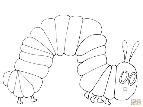 Very Hungry Caterpillar Coloring Page Supercoloring Com Eric Carle Coloring Pages