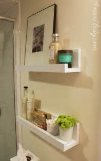 small shelves for bathroom wall diy shelves for a bathroom 4men1lady bathrooms