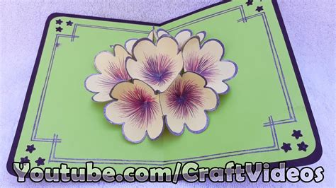 how to make a 3d flower pop up greeting card how to make s day 3d flower pop up card pop up