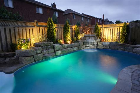 landscape lighting near pool 50 upscale backyard outdoor in ground swimming pools