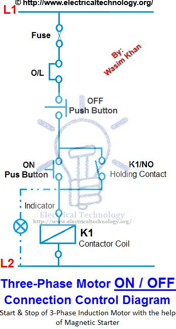 on three phase motor connection power