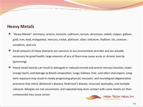 Cobalt And Nickel Detox by Toxicity And Detoxification With Far Infrared