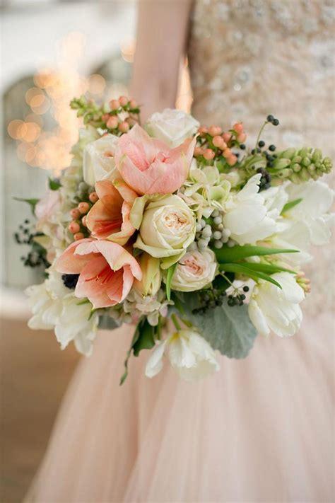 Wedding Bouquet Hydrangea And by Blush Amaryllis Tulip Hydrangea And Berry Winter