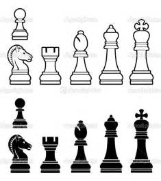 Chess Pieces Outline by Chess Pieces