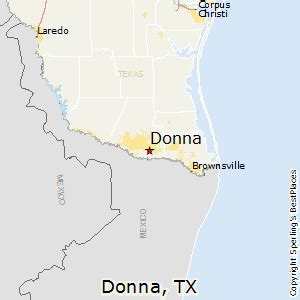 where is donna on the map best places to live in donna
