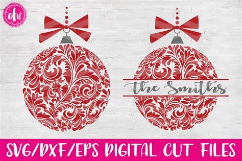 flourish christmas ornaments svg dxf eps cut file