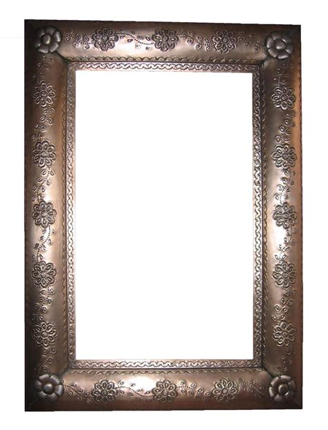 rustic mirrors tin mirror mexican rustic furniture and home decor
