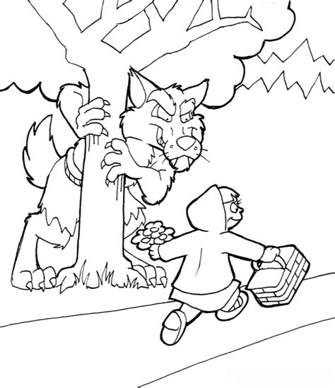 Free Coloring Pages Of Big Bad Wolf Big Bad Wolf Coloring Page