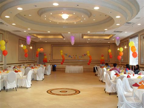 Red orange yellow party decorations by teresa