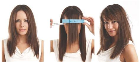 como cortar el cabello en capas largas uno mismo cortarse el pelo en casa con creaclip la pinza niveladora