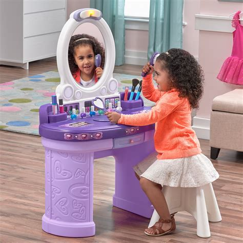 Step2 Pretty And Posh Vanity With Stool Set by Pretty Posh Vanity With Stool Pretend Play Step2