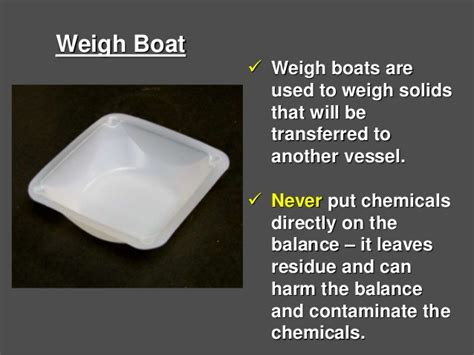 weighing boat function 1 4 laboratory equipment names uses