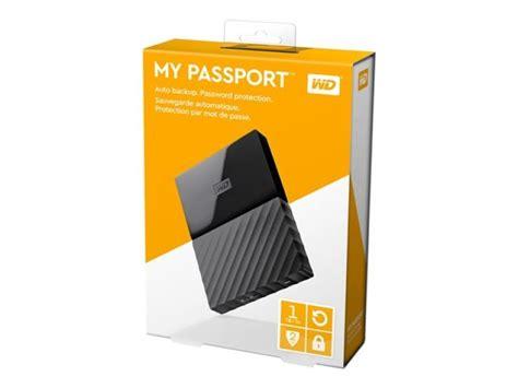 Hardisk Wd My Passport 1tb Wd My Passport 1tb Portable Drive Black Ebuyer