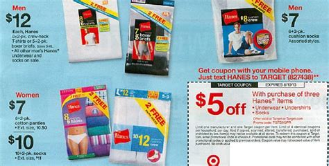 hanesbrands outlet printable coupons hanes totallytarget com