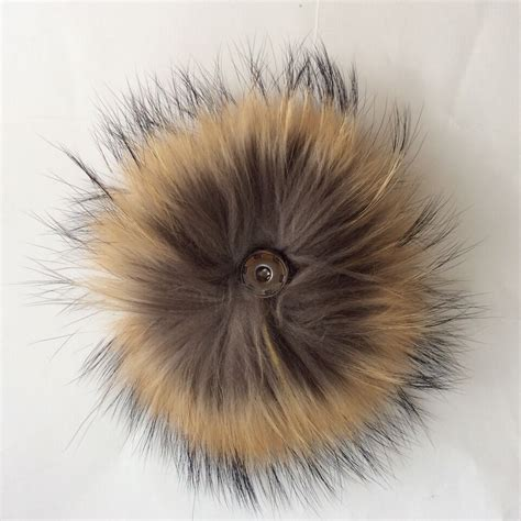 raccoon pomeranian colored real raccoon fur hair woolen hats fur pom poms buy woolen hats fur