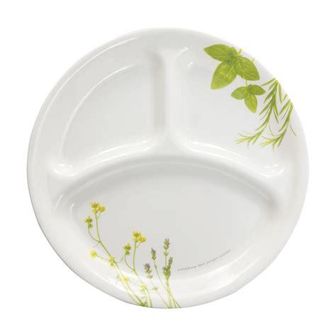 corelle sectional plates corelle 174 livingware european herbs 10 25 quot divided plate