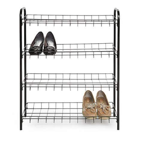 4 Tier Wire Shoe Rack by Black Shoe Rack