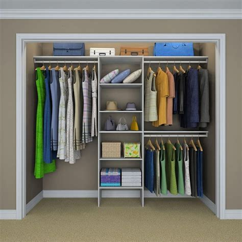 closet organizer home depot closetmaid selectives 83 in h x 120 in w x 14 5 in d