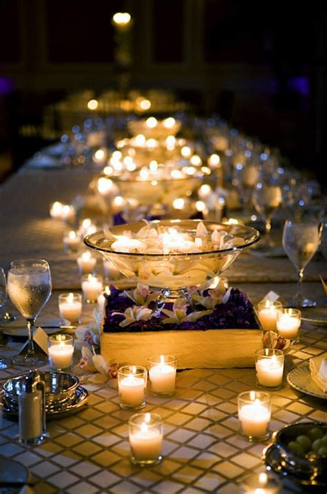 table centerpieces with candles memorable wedding wedding reception candle centerpieces