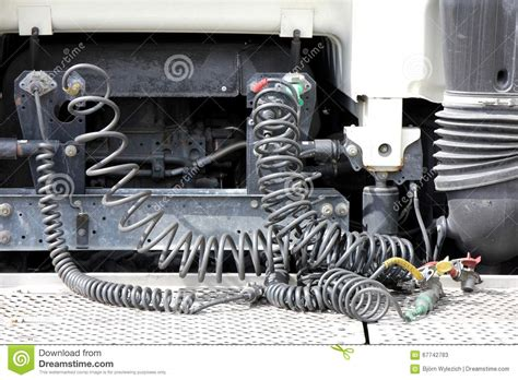 connection cables stock image image of hoses tractor