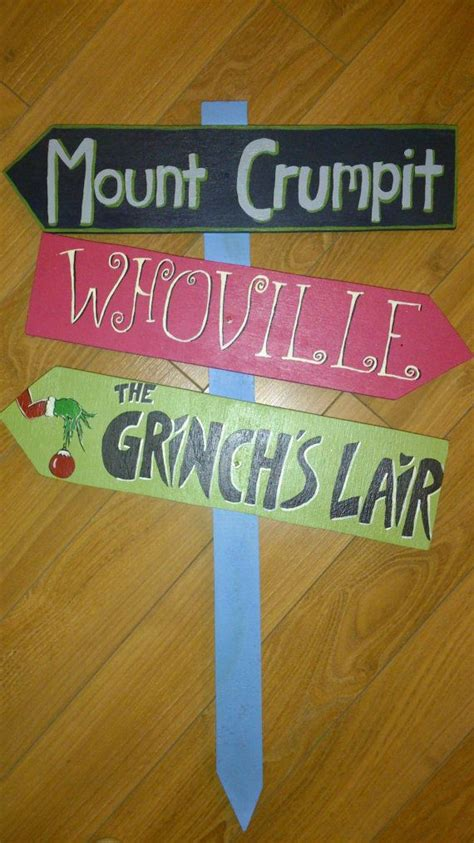 whoville sign the grinch themed yard sign by sweetiepiesigns on etsy