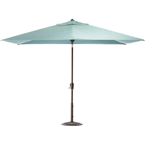 Auto Tilt Patio Umbrella Garden 10 Ft Aluminum Patio Umbrella With Auto Tilt In Lime Green M150064 The Home Depot