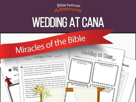 Wedding At Cana Kindergarten Lesson by Bible Miracles Wedding At Cana Workbook Freebie By Pip29
