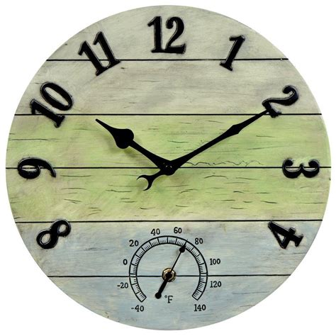 acurite 14 in weathered combo analog wall clock 75354a1sb
