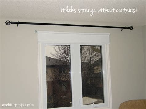 how to hang curtain rods how to install a curtain rod with pictures