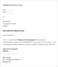 Request Letter Hr Address Proof Employee Verification Letter 10 Free Word Pdf