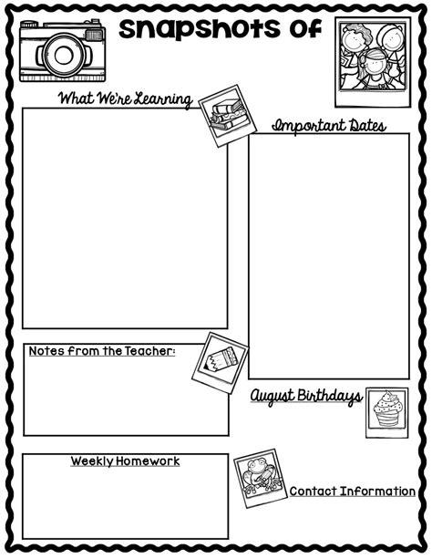 parent newsletter template blank classroom newsletter for teachers