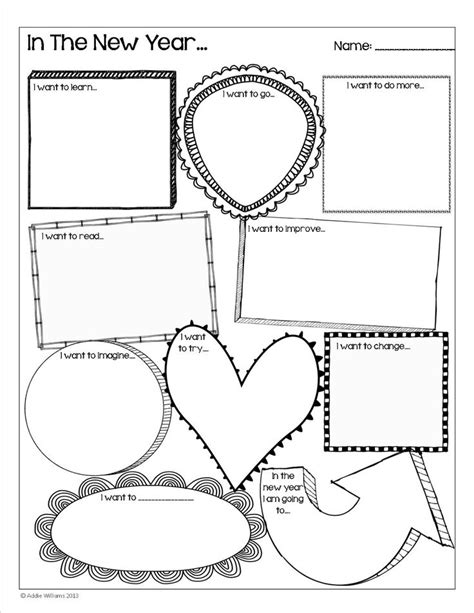 new year activity happy new year goal setting activity for students a