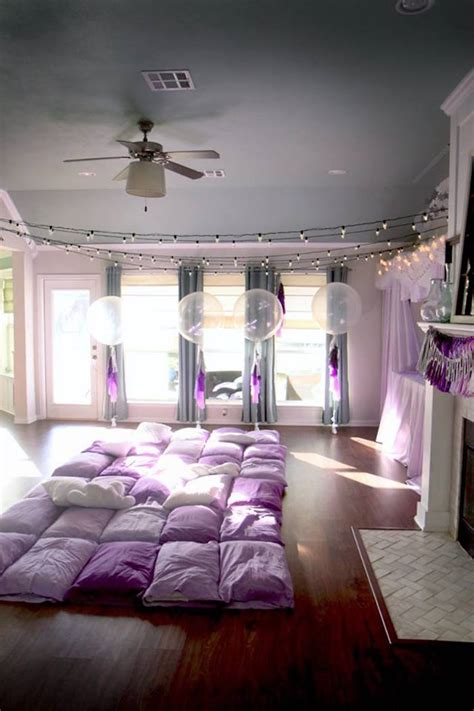 how to decorate your bedroom for a sleepover 5 tips for kara s party ideas popcorn pajamas purple movie night