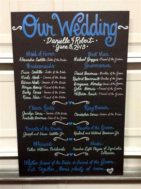 chalkboard paint on poster board 25 best wedding program chalkboard ideas on