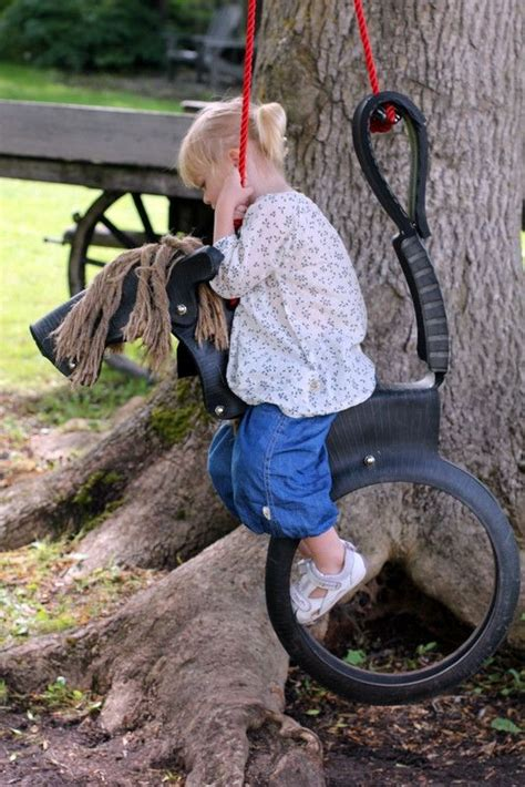 horse swing tire the magical swing horse country living pinterest