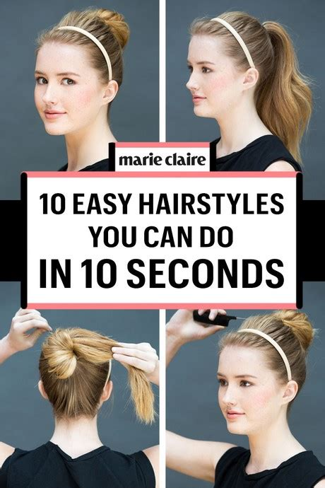 quick and easy hairstyles at home hairstyles for long hair quick and easy