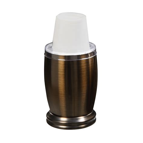 Bathroom Cup Dispenser Bronze with 3 Oz Dixie Cup Dispenser